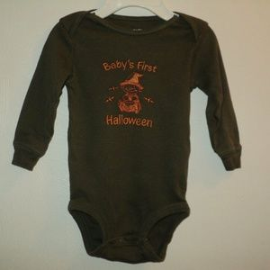 Baby's First Halloween 6 Mos One-Piece Brown
